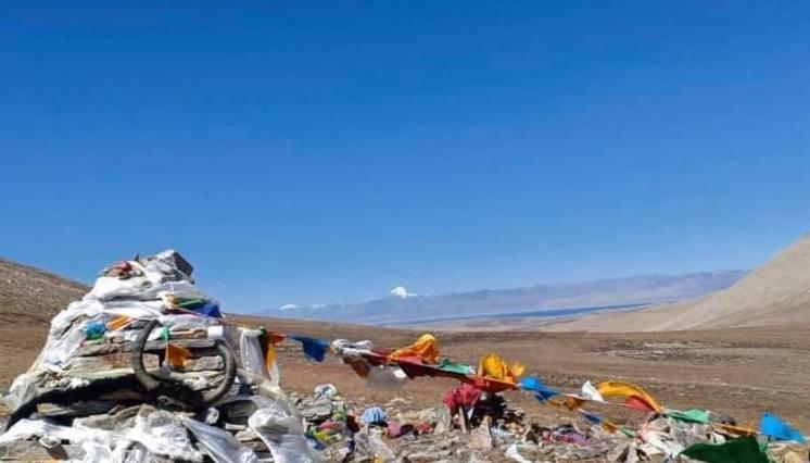 Kailash View from Lapcha La Pass