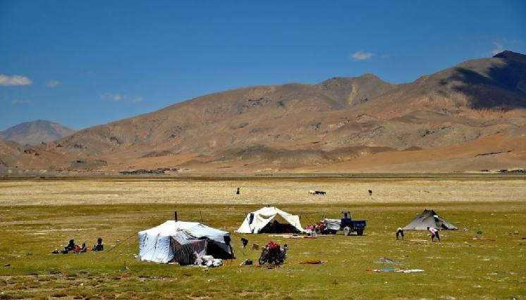 Tented House of Nomad People in Tibet