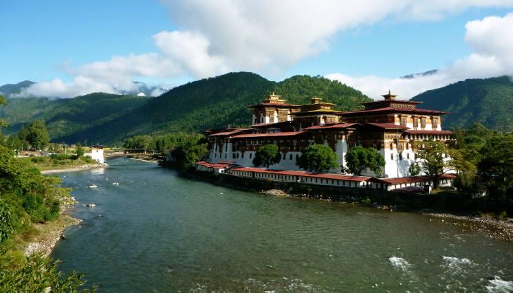 Punakha Dzong in Punakha Bhutan