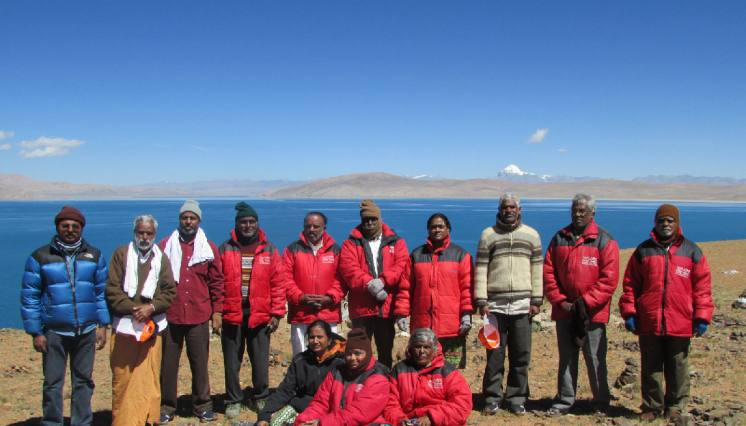 Bank of Lake Manasarovar