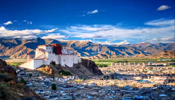 View of Potala palace and Lhasa City