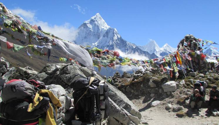 On the way Everest