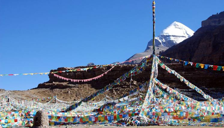Mt. Kailash view from Tarboche valley