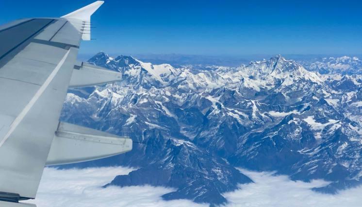 Mt. Everest View during Kathmandu - Lhasa Flight