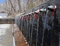 108 holy taps in Muktinath