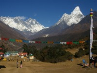 Amadablam and Mt Everest view from Tengboche
