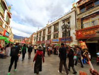 Barkhor squire in Lhasa