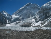 Mt Everest and Khumbu Ice-fall