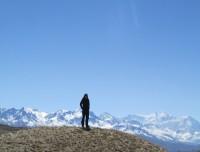 Himalayan range in Upper Mustang