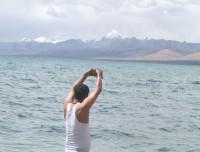 Lake Manasarovar and Mt Kailash view