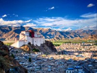 Potala Palace and Lhasa city