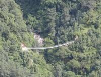 Suspension bridge on the way