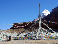 Mount Kailash from Tarboche valley